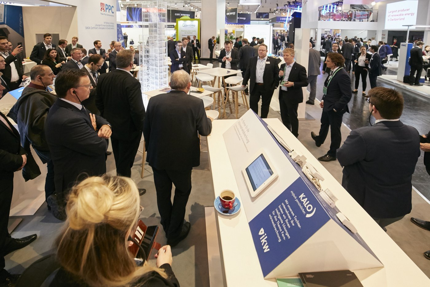 Eröffnung Tour Stand noventic group E-world 2019