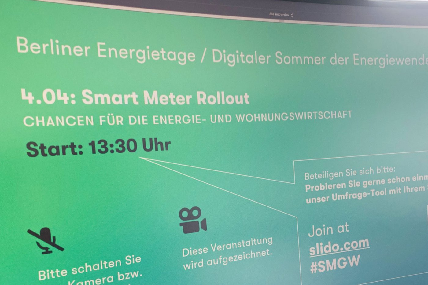 Berliner Energietage Virtueller Diskurs Smart Meter Rollout noventic intelligentes messsystem